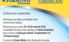 Comunicado – Retorno às aulas